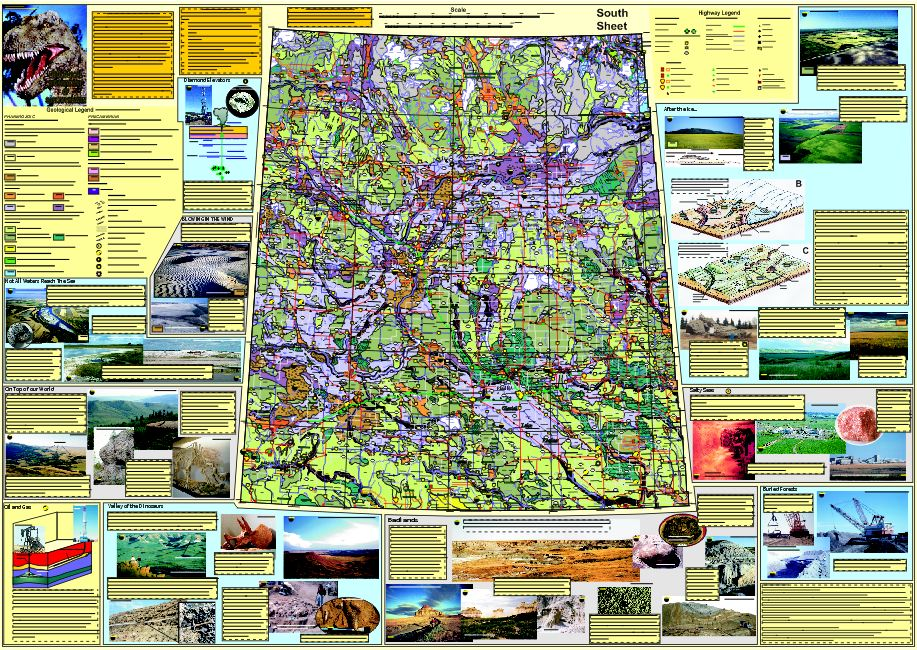 Geological Highway Map of Saskatchewan « Saskatchewan Geological Society